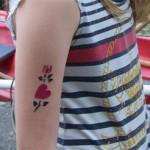 Kinder lieben diese Airbrush Tattoos