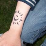 In Jüterbog geht die Airbrush Tattoo Sonne auf