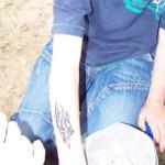 Tribal als Kinder Tattoo mit Airbrush