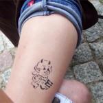 Ackerbuergerfest in Nauen mit Spass Tattoos