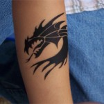 Airbrush Drachen Tattoo