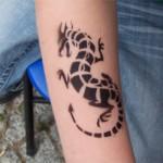 Airbrush Drachen Tattoo
