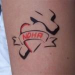 Airbrush Herz mit Widmung in Nauen