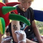 Drachen als Airbrush Tattoo in Bochow
