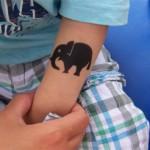 Elefanten Airbrush Tattoo