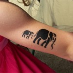 Elefanten Kinder Tattoo