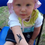 Elfe als Airbrush Tattoo
