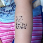 Kaetzchen als Airbrush Tattoo