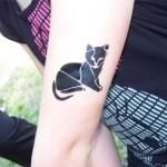 Katzen Airbrush Tattoo