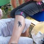 Kinder Airbrush Tattoo am Bein