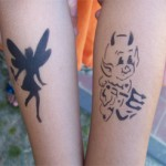 Kinder Airbrush Tattoos im Kindergarten