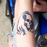 Kinder Tattoo der Tot