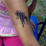 Pferd als Airbrush Tattoo