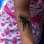 Pferde Kinder Tattoo
