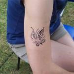 Schmetterling Aibrush Tattoo