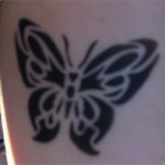 Schmetterling als Airbrush Tattoo