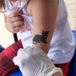 Spass Tattoos mit Kindern