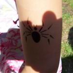 Spinnen Airbrush Tattoo