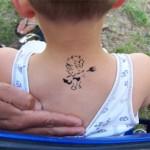 Teufel als Airbrush Tattoo