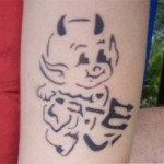 Teufel als Airbrush Tattoo