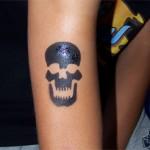 Totenkopf als Tattoo