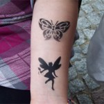 Zwei Airbrush Tattoos