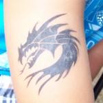Airbrush Drachen Spass Tattoo