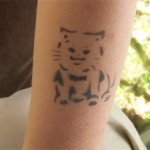 Airbrush Kaetzchen Tattoo