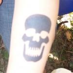 Airbrush Totenkopf Tattoo