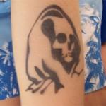 Airbrush der Tod Tattoo