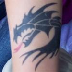 2farb Drachen Airbrush Tattoo