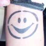 Smile als Airbrush Tattoo