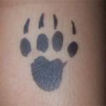 Tatze als Tattoo