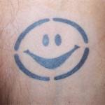 Unterarm Smile Tattoo