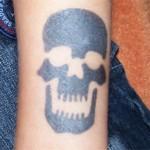 Totenkopf Tattoo der Spass aus Berlin